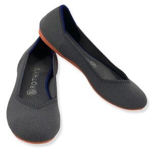 Rothys Charcoal Birdseye Flats Orange Bottom